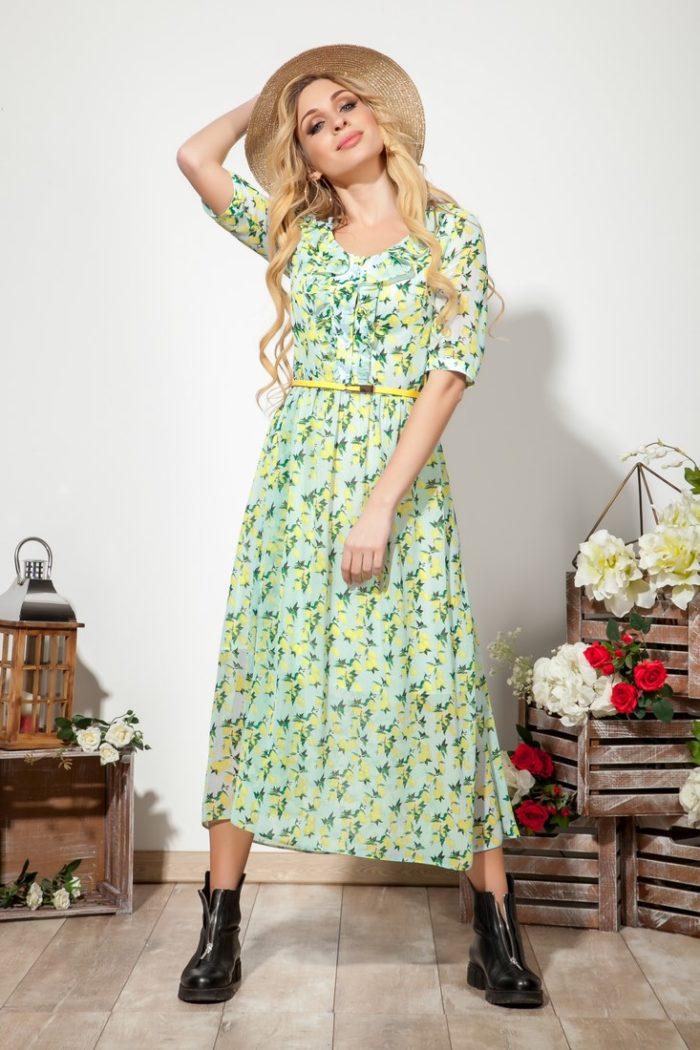 Платье 1542 (46-52) COLLECTION - 2019/2020